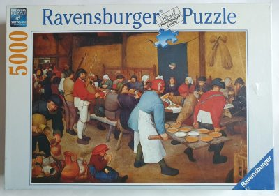 Image of the puzzle 5000, Ravensburger, The Peasant Wedding, Bruegel, Picture of the box