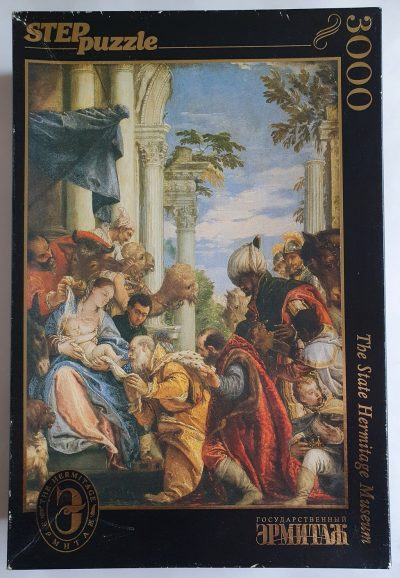 Image of the puzzle 3000, Step, Adoration of the Magi, Paolo Veronese, Sealed Bag, Picture of the box