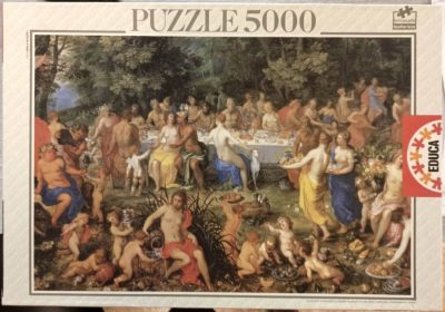 Image of the puzzle 5000, Educa, The Feast of the Gods, Hendrick van Balen, Sealed Bag, Picture of the box