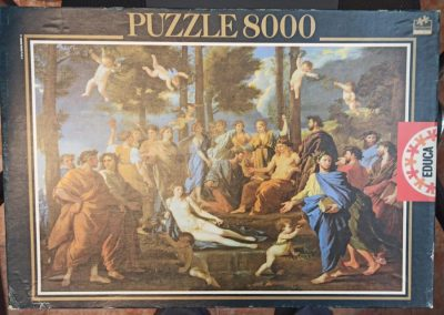 Image of the puzzle 8000, Educa, Le Parnasse, Nicolas Poussin, Sealed Bag, Picture of the box