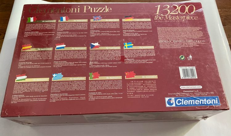 Image of the puzzle 13200, Clementoni, The Creation of Adam, Michelangelo, Factory Sealed, Picture of the back