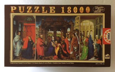 Image of the puzzle 18000, Educa, St. Columba Altarpiece, by Roger van der Weyden, Sealed Bag, Picture of the box