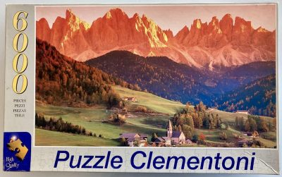 Image of the puzzle 6000, Clementoni, The Dolomites, Santa Maddalena, Sealed Bag, Picture of the box