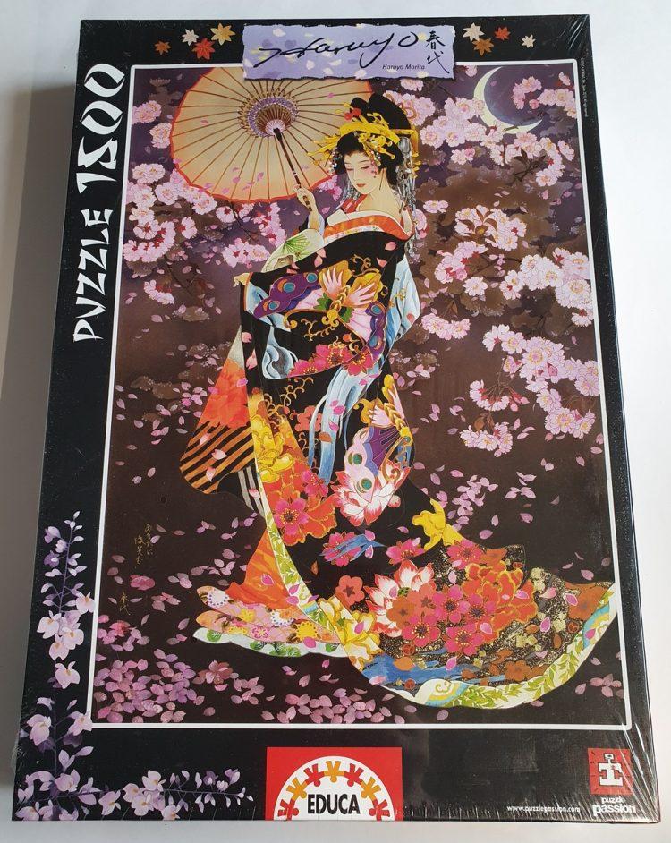 Image of the puzzle 1500, Educa, Yozakura, Haruyo Morita. Picture of the box.
