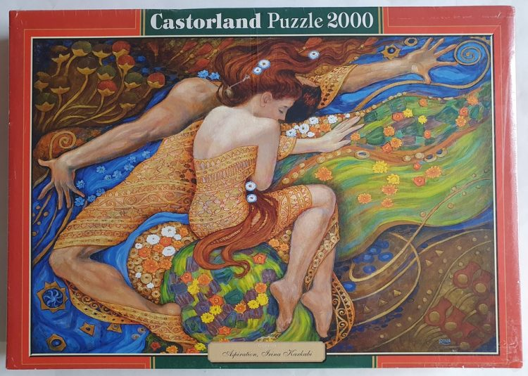 Image of the puzzle 2000, Castorland, Aspiration, Irina Karkabi. Picture of the box.