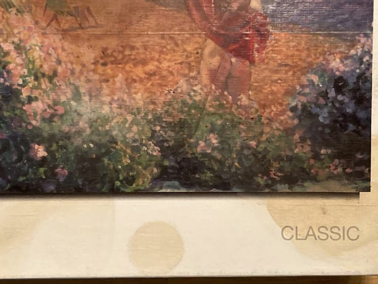 Image of the puzzle 1000, MB, Carefree Days, Robert Tyndall, Sealed Bag, Detail of the box