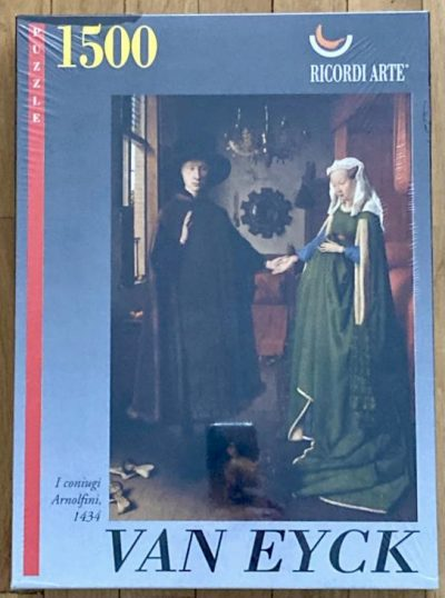 Image of the puzzle 1500, Ricordi, The Arnolfini Portrait, Van Eyck, Factory Sealed