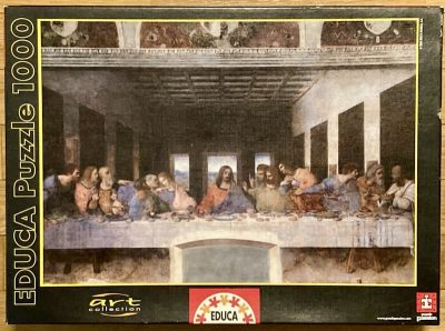 Image of the puzzle 1000, Educa, The Last Supper, Leonardo da Vinci, Sealed Bag, Picture of the box