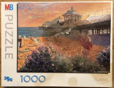 Image of the puzzle 1000, MB, Carefree Days, Robert Tyndall, Sealed Bag, Picture of the box