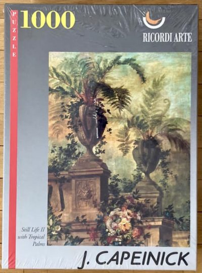 Image of the puzzle 1000, Ricordi, Still Life II with Tropical Palms, by Jean Capeinick, Factory Sealed