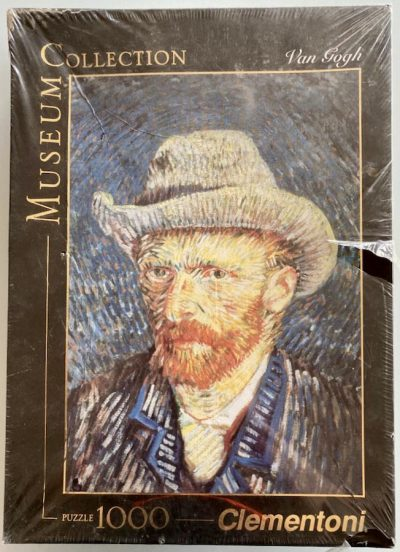 Image of the puzzle 1000, Clementoni, Self-Portrait with Felt Hat, Van Gogh, Factory Sealed, Picture of the box