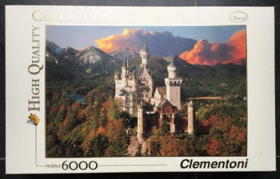 Image of the puzzle 6000, Clementoni, Neuschwanstein (36511). Picture of the box.