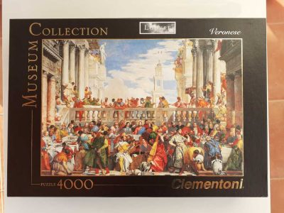 Image of the puzzle 4000, Clementoni, The Marriage at Cana, by Paolo Veronese, Sealed Bag, Picture of the box