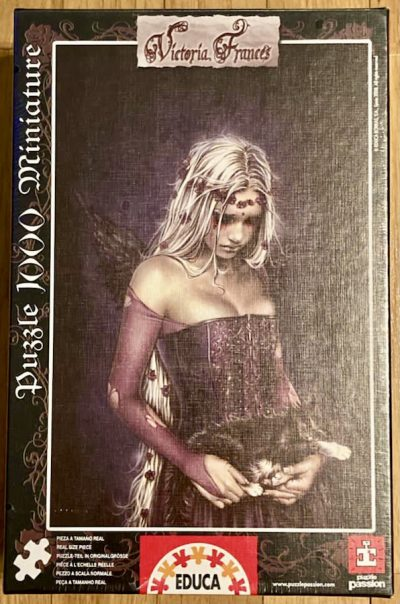 Image of the puzzle 1000, Educa, Angel of Death, by Victoria Francés (Miniature), Factory Sealed
