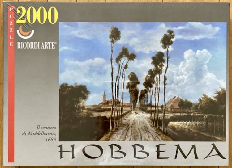 Image of the puzzle 2000, Ricordi, The Avenue at Middelharnis, by Meindert Hobbema, Factory Sealed