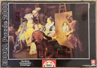 Image of the puzzle 2000, Educa, Pasha Having his Sweetheart Portrayed, Carle Van Loo, Factory Sealed